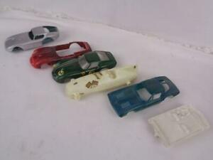 Vintage Slot Car Bodies (5) Ungar, Lindberg Cobra, Ferrari & 66 Eldon Driver