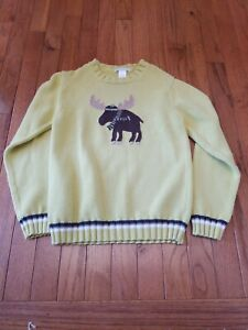 Janie and Jack  Boys Size 8 winter moose sweater