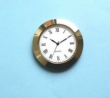Economy 60mm Gold Bezel Watch Insert white dial for 50mm hole