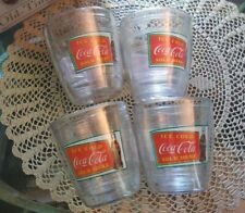 COCA COLA SET OF 4 OLD TIME TUMBLERS NEW IN BOX-PLASTIC