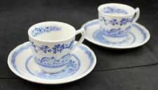 Masons QUAIL BLUE 2 Demitasse Cup and Saucer Sets GREAT CONDITION