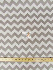 ZIG ZAG POLY COTTON PRINT FABRIC - Different Styles -SOLD BTY CHEVRON POLYCOTTON
