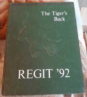 Vintage The Tigers Back South Plainfield NJ High School 1992 Regit Yearbook