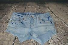 Amethyst Jeans Women's Distressed Denim Short Shorts Size 5 Series 31 B1