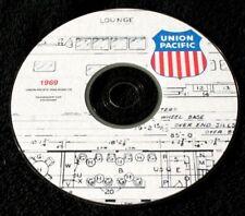 Union Pacific 1969 Passenger Car Diagrams & Data PDF Pages  DVD
