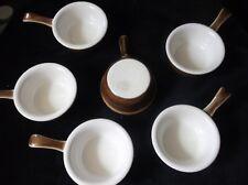 6 x El chocolate Individuales De Porcelana Excelente Pillivuyt Lustre Olla Ollas Y Manijas