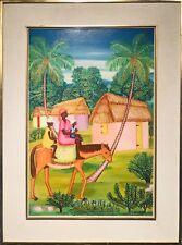 """GABRIEL LEVEQUE Hatian Landscape Oil Painting 24""""H x 16""""W"""