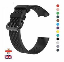 For Fitbit Charge 3 4 Strap Replacement Sports Wristband Silicone Buckle