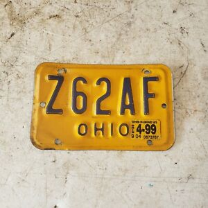 OHIO MOPED MOTORCYCLE LICENSE PLATE OLD BIKE TAG MAN CAVE VINTAGE ANTIQUE L$$K