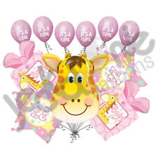 11 pc Giraffe It's a Girl Balloon Bouquet Decoration Baby Shower Welcome Home
