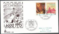 VATICANO 1993 BUSTE FDC CAPITOLIUM NATALE ASSISI SAN FRANCESCO PACE IN EUROPA