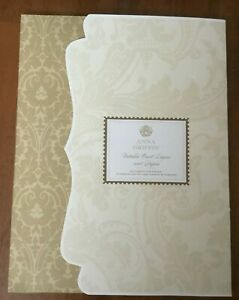 Anna Griffin METALLIC CARD LAYERS and PAPERS 112 Card Stock Pieces - NEW