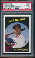 2018 Topps Throwback Thursday Jose Ramirez SP Card #164 PSA 10 Gem Mint (Qty)