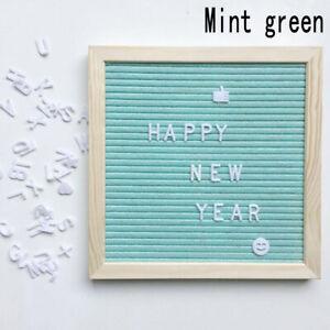 Felt Letter Board Wooden Frame Changeable Symbols Message Boards for Home Office