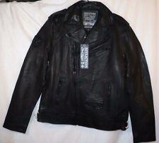 "Affliction Black Premium ""Top Legend"" black leather Biker Jacket size medium"