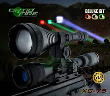 Opticfire XC-75 LED Deluxe hunting torch gun light lamp lamping kit - T67 killer