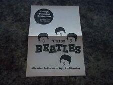 THE BEATLES 1964 RARE MILWAUKEE MEMORABILIA