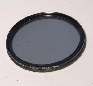 Used 62mm Vivitar Polarizer filter PL Thin Japan B+