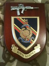 Royal Marines Military Wall Plaque+ Pewter SA80