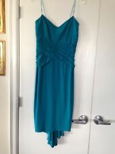 Laundry Dress Aqua Cocktail w/Beaded NWT 10 $335