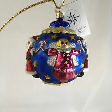 New Christopher Radko Petite Circle Of Cheer Hand Painted Hand Blown Ornament