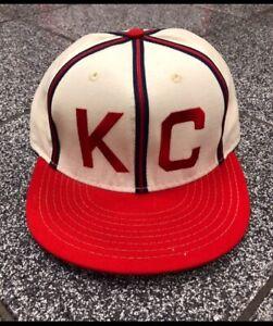 Size 7 3/8 NWT Kansas City Monarchs hat cap KC Royals 1942 Paige VTG Sandlot