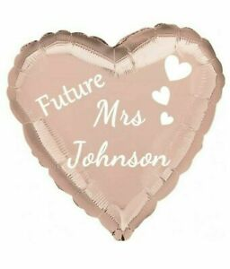 PERSONALISED Rose Gold Team Bride to be Hen Party MRS Foil Balloon 18''