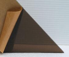 "4 Pack 3"" x 3"" x 1/4"" Bronze Smoked Cell Cast Acrylic Plexiglass Sheets # 2370"