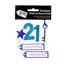Blue 21st Birthday DIY Greeting Card Toppers Personalise Handmade Cards Yourself