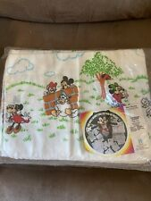 "Vintage Disney Baby Receiving Blanket 2 Pack 30""x40"""
