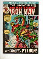 Iron Man #50 HIGH GRADE VF+ 8.5 1971 PRINCESS PYTHON BLACK COVER! TOUGH Hi-Grade
