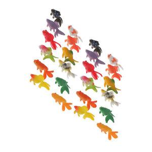 24 Plastic Mini Gold   Kids Toys Animal Figures Party Gift Aquarium Decor