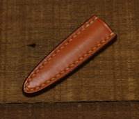 knife blade sheath cover scabbard case bag cow leather customize brown Z1032