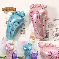 1X Boy Girl Lovely Feet Balloon Baby Shower Foot Foil Balloons Decoration HC