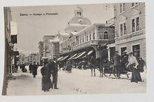 29818 AK DAVOS Kurhaus u. Promenade Pferde-Schlitten Kriegsgefangenen Post 1916