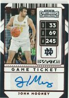 2020-21 Contenders Draft Picks John Mooney Red Game Ticket AUTO Notre Dame
