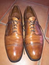Mens brown leather oxford, cap toe  shoes, Allen Edmonds, sz;12