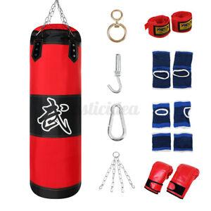 Boxsack Boxhandschuhen Set Sandsack MMA Erwachsene Punching Bag + Handschuhe