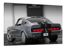 1967 Shelby GT 500 Ford - 30x20 pouces Toile Wall Art Encadrée PHOTO PRINT
