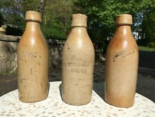 EXCEPTIONAL ANTIQUE COUNTRY PRIMITIVE STONEWARE BEER BOTTLES CHICAGO TRADEMARK