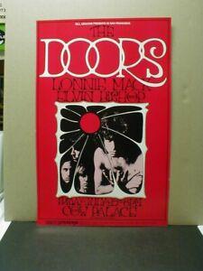 ORIGINAL 1969 BILL GRAHAM BG #187 COW PALACE POSTER - THE DOORS, LONNIE MACK