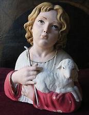 Una  statua in terracotta policroma di Gesù giovinetto. Primi 900. f.ta Catalano
