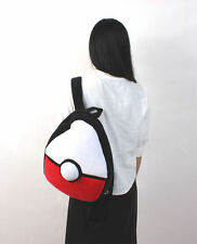 Pokemon Pokeball Soft Plush Backpack Bag Schoolbag RARE