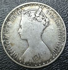 1872 GREAT BRITIAN - ONE FLORIN - .925 SILVER - Victoria - DIE NUMBER 28 -GOTHIC