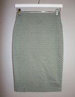 studio-w Brand Black White Pencil Skirt Size 8 LIKE NEW #AN02