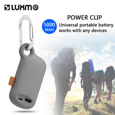 Outdoor Universal Keychain Power Bank 5000mAh Portable Backup Battery Charger US