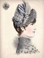 Estampe de mode du XIXème - La grande Modiste