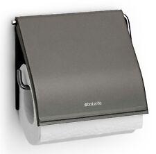 Brabantia Support pour Papier Toilette Platinum Foncé Argent Inoxydable