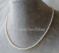 echte AAA Mini 3-3,5mm kultiviert weißen Süßwasser Perlenkette 17 Zoll