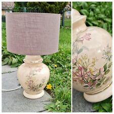 Vintage Lamp - Ceramics Floral BHS   Large Bedside lamp Table Lamp